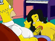 Homer's from Simpsons sweet threesome with Marge & Agent