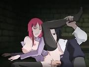 Hot Redhead Karin fucks Uchiha Sasuke