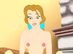 Belle from Beauty and the Beast has an affair with Gaston