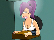 Leela from Futurama in a box