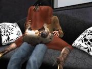 Fred Adjani qui defonce la belle Avi dans sa mini robe moulante sexy