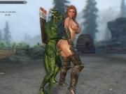 Sexy Skyrim- Dovakhin and Derkeethus argonian mace !