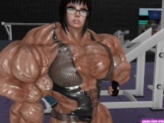3D Muscle Girl