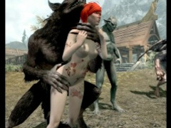 Skyrim Hentai-All the beasts