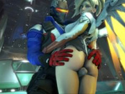 Soldier: 76 and the Overwatch girls