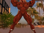 Second life muscle girl