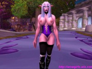 WowGirlX - Sexy Night Elf Strip-Tease HD