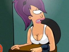 FUTURAMA HENTAI - Turanga leela fucked in sex booth