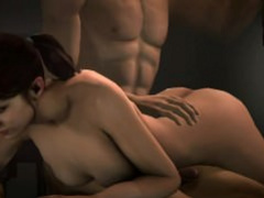 3D Zoey loves to get her ass spanked compilation (L4D)
