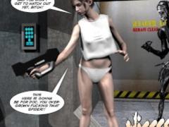 3D Comic: Spermaliens. Episode 1