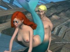 Wild little mermaid gets fucked senseless part 3