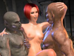 3D Cellar Dwellers Fuck Hot Chick