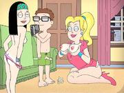 American Dad porn - crazy orgy - (Francine, Steven, Hayley)