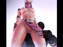 Hard anal treatment - Mileena from Mortal Kombat part 3