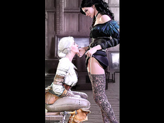 Attractive lesbians engaged in hot steamy sex and cunnilingus - Yennefer from The Witcher 3, assembly, episode 4