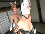 Sexy lesbians quench their thirst for hot cunnilingus sex - Christie from Dead or Alive, assembly, episode 3