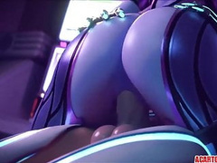 Overwatch Sombra sex and blowjobs compilation