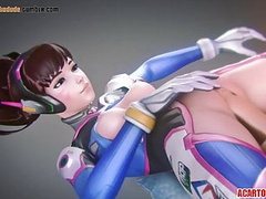 D.Va and other heroes getting pussy banged