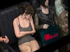 Sweet teens try lesbian fun - Lesbian train molesters part 1