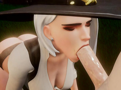 Oral skills / Ashe from Overwatch