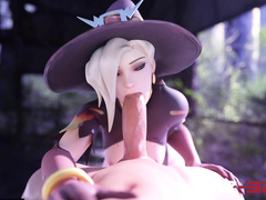 Blowjob skills / Mercy from Overwatch