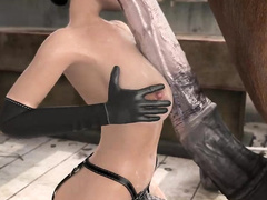 BTQ 3 1080p - Breaking the quiet 3 - Full version with sound! (Lara Croft by animepron) part 1