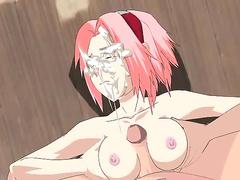Sakura Haruno and Naruto get laid