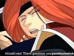 A lot of yaoi fucking in samurai love story