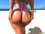Babs on the beach