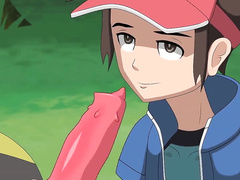Nate from Pokemon gives the best blowjobs