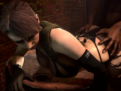 Young Quiet from Metal Gear Solid with tight tits enjoys a hard insertion