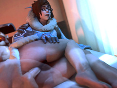 Overwatch - Mei (defense) tight x-ray sensitive asshole HD