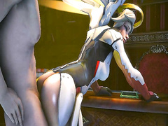 Mercy from Overwatch in hardcore porn, assembly 2017, part 2/5