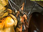 Horror porn movie - Lara Croft from Tomb Raider part 22