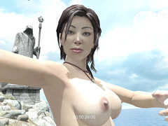 Sexy solo nude posing show - Lara by animepron