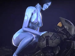 Busty toon MILFs are the best - Cortana from Halo, assembly, part 1