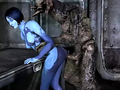 Big-tittied cartoon babes - Cortana from Halo, assembly, part 3