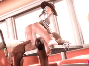 Ride on big cock / Ashe from Overwatch