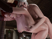 Futa Ciri Doggystle Triss (Witcher)
