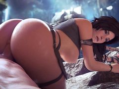 Big cock fucks Clara the tomb raider extra hard