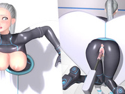 Machine Loveratory, part 2, masturbates with dildo