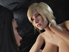 Futanari hentai babes - Wonder Woman and Power Girl by Nyl part 2