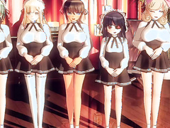 Espero que se sienta comodo y lleno de placer hasta el final - Grand Opening Maids Sextreme Massage Salon (Senran Kagura), Pocomopremium, sub spanish, part 1