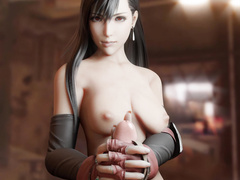 Tifa Handjob Topless by Bulging Senpai
