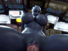 Liara in the Cockpit by Rigid3D