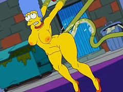 Marge Simpson and alien's (Simpsons) by Nstat