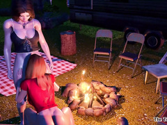 Campfire Memories - Rebel and Vicky by The Terrible Fairy