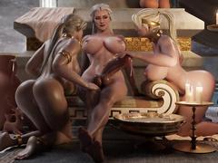 Sindel, Cassie, Sonya by nyl